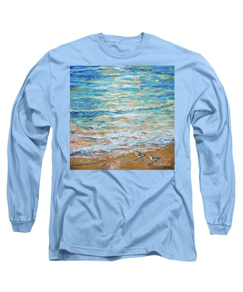 Sanderlings Long Sleeve T-Shirt by Linda Olsen