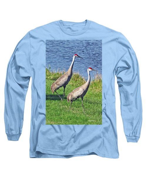 Sandhill Pair Long Sleeve T-Shirt