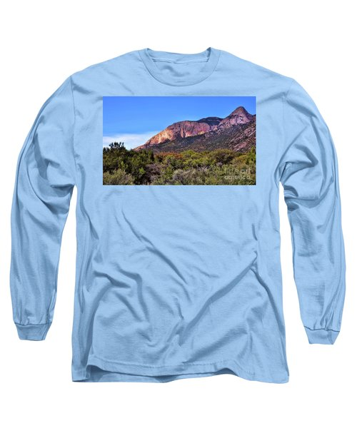 Long Sleeve T-Shirt featuring the photograph Sandia Sunset by Gina Savage