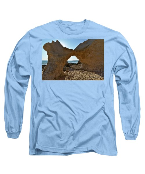 Sandstone Arch In Gale Beach. Algarve Long Sleeve T-Shirt