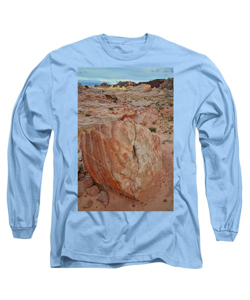 Sandstone Shield In Valley Of Fire Long Sleeve T-Shirt