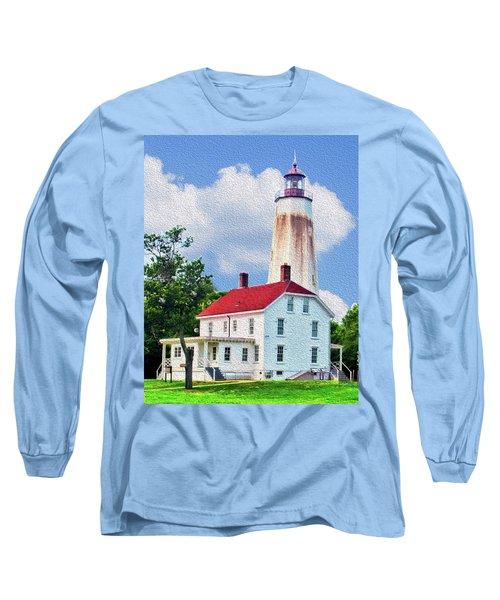 Sandy Hook Light House Long Sleeve T-Shirt