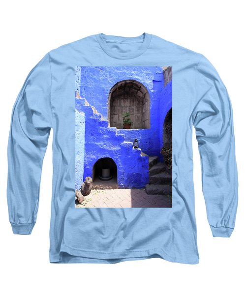 Long Sleeve T-Shirt featuring the photograph Santa Catalina Monastery, Arequipa, Peru by Aidan Moran