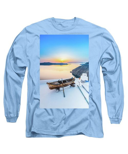 Santorini - Greece Long Sleeve T-Shirt by Stavros Argyropoulos