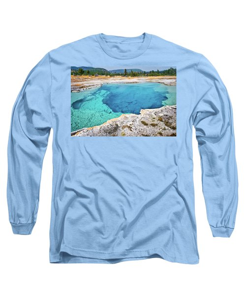 Sapphire Pool, Biscuit Basin Long Sleeve T-Shirt