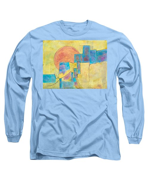 Long Sleeve T-Shirt featuring the painting Sausalito by Nancy Jolley