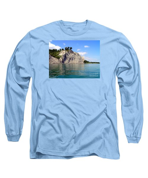 Scarborough Bluffs-lake View Long Sleeve T-Shirt by Susan  Dimitrakopoulos