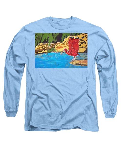 Scarlet Ibis Long Sleeve T-Shirt