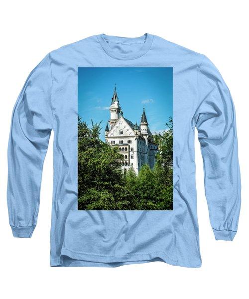 Long Sleeve T-Shirt featuring the photograph Schloss Neuschwantstein by David Morefield