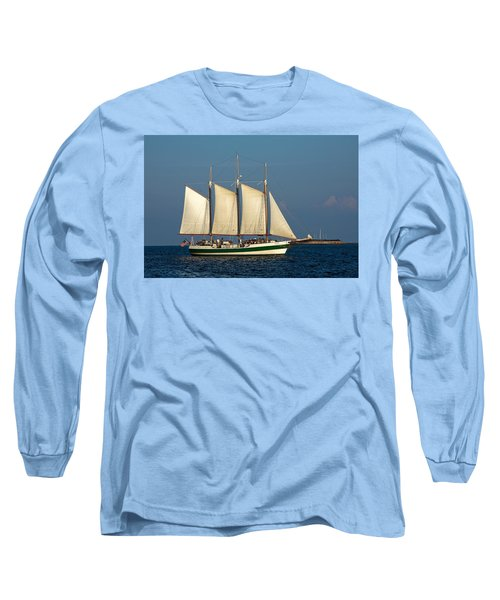 Schooner By Fort Sumter Long Sleeve T-Shirt