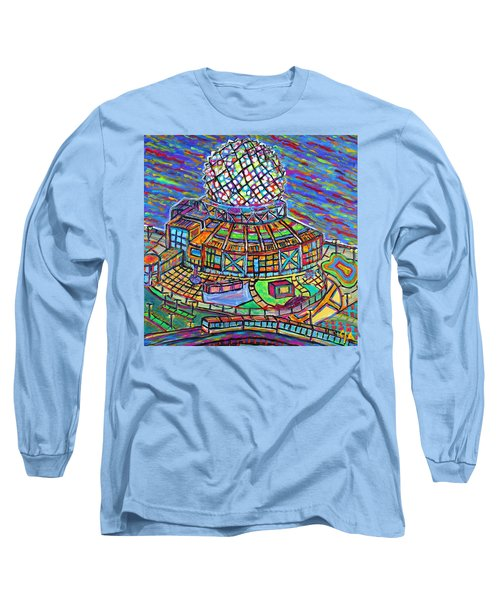 Science World, Vancouver, Alive In Color Long Sleeve T-Shirt by Jeremy Aiyadurai