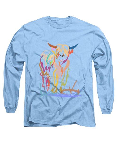 Scottish Highland Cow Long Sleeve T-Shirt
