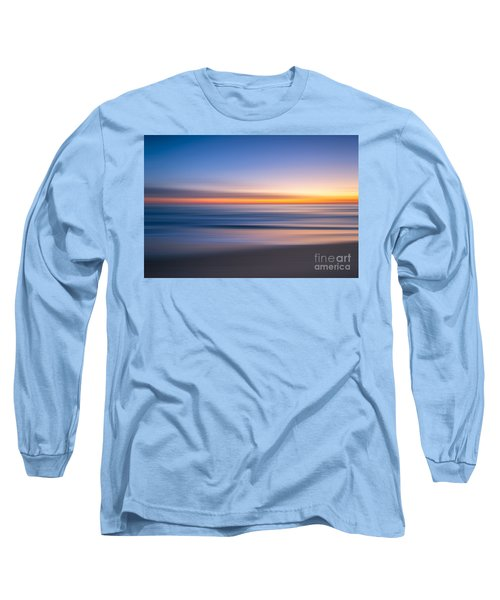 Sea Girt New Jersey Abstract Seascape Sunrise Long Sleeve T-Shirt
