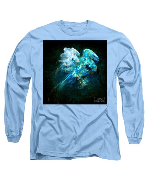 Long Sleeve T-Shirt featuring the painting Sea Jellyfish by Alexa Szlavics