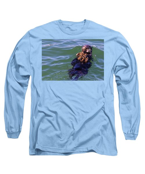 Sea Otter With Lunch Long Sleeve T-Shirt