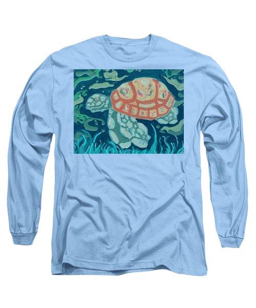 Sea Turtle At Twilight  Long Sleeve T-Shirt