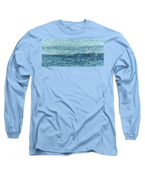 Seagulls Long Sleeve T-Shirt by Patrick Kain