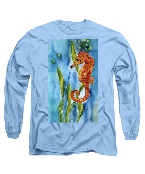 Seahorse With Sea Grass Long Sleeve T-Shirt
