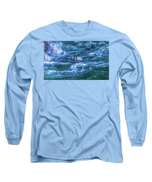 Long Sleeve T-Shirt featuring the photograph Seal In Teh Water by Jonny D