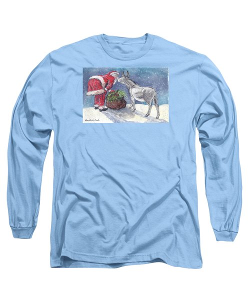 Long Sleeve T-Shirt featuring the painting Season's Greetings by Dawn Senior-Trask