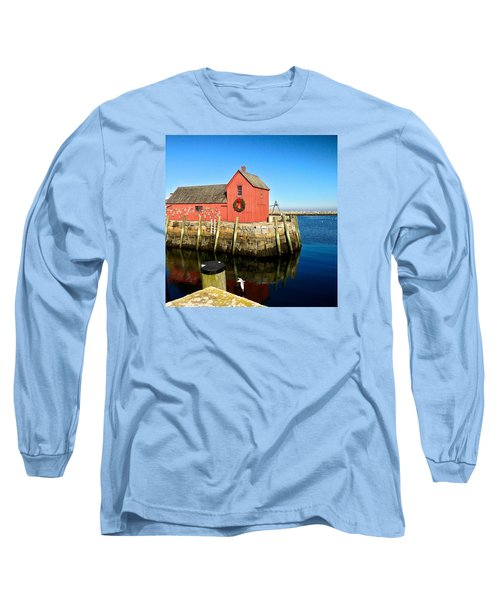 Season's Greetings Rockport Ma Long Sleeve T-Shirt