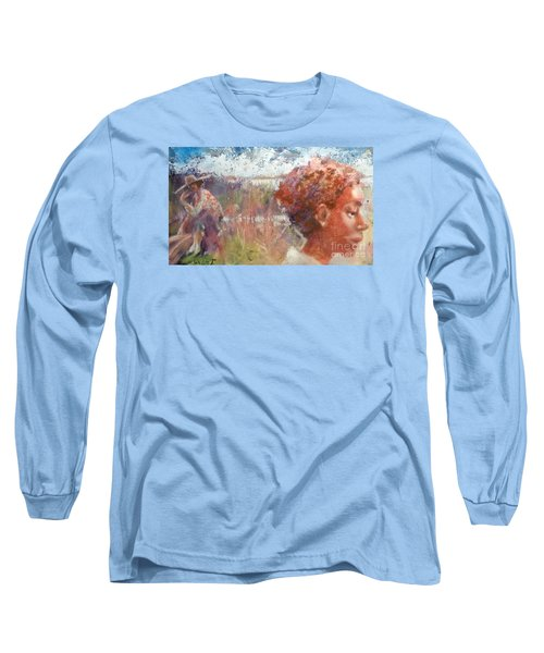Long Sleeve T-Shirt featuring the painting Seasons Of Sweetgrass by Gertrude Palmer