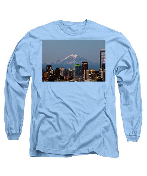 Seattle-mt. Rainier In The Morning Light.2 Long Sleeve T-Shirt
