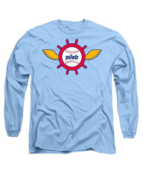 Seattle Pilots Retro Logo Long Sleeve T-Shirt