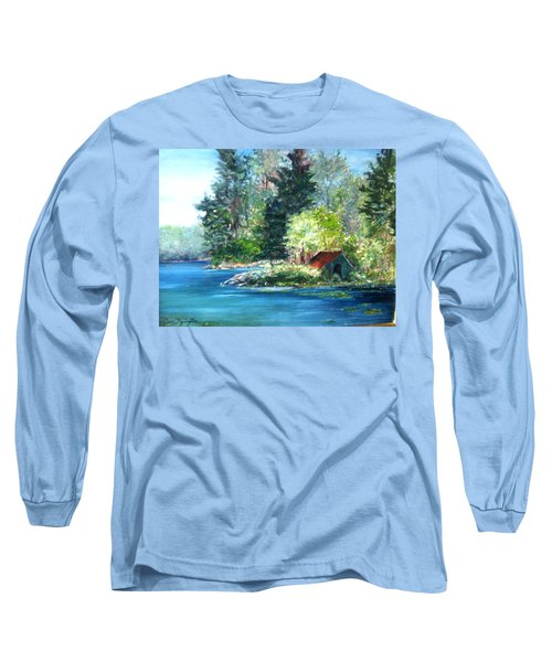 Secluded Boathouse-millsite Lake  Long Sleeve T-Shirt