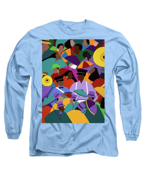 Second Line New Orleans Long Sleeve T-Shirt