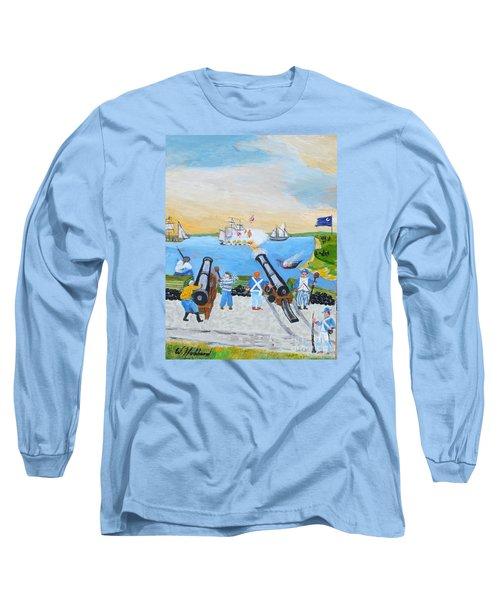 Seige Of Charleston, Sc Long Sleeve T-Shirt by Bill Hubbard