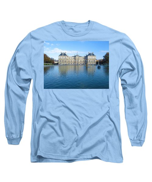 Long Sleeve T-Shirt featuring the photograph Senat From Jardin Du Luxembourg by Christopher Kirby