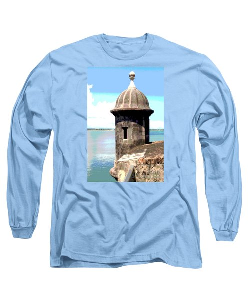 Sentry Box In El Morro Long Sleeve T-Shirt by The Art of Alice Terrill
