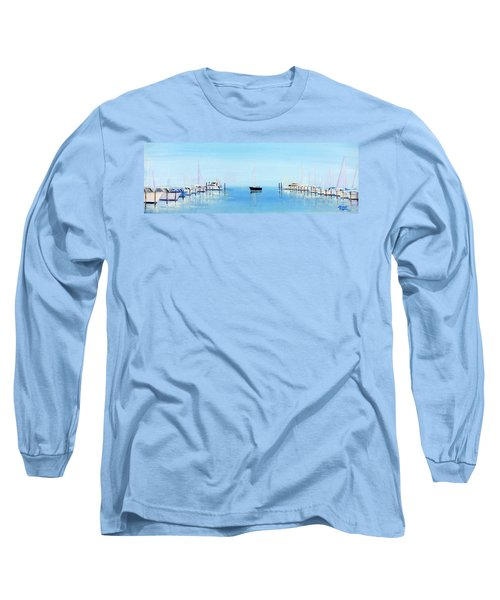 Serene Atlantic Highlands Marina Long Sleeve T-Shirt