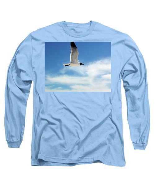 Serenity Seagull Long Sleeve T-Shirt by Marie Hicks