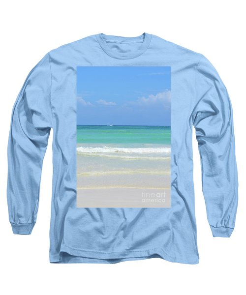 Long Sleeve T-Shirt featuring the digital art Seychelles Islands 3 by Eva Kaufman