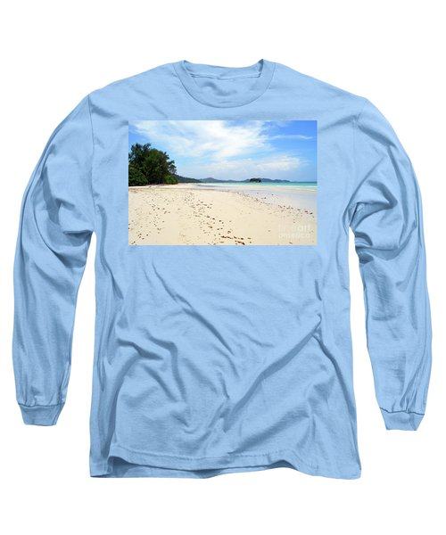 Long Sleeve T-Shirt featuring the digital art Seychelles Islands 5 by Eva Kaufman