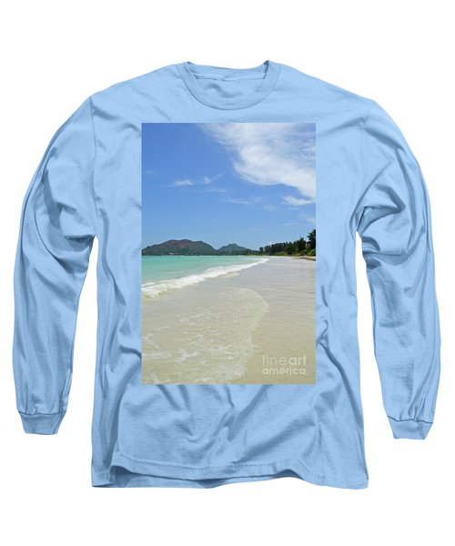 Long Sleeve T-Shirt featuring the digital art Seychelles Islands 6 by Eva Kaufman