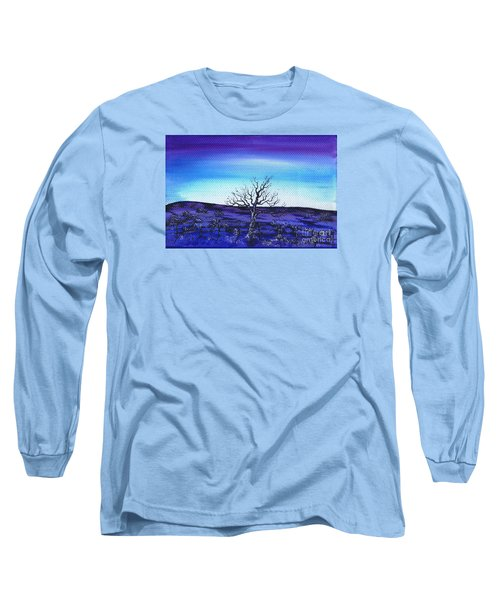 Long Sleeve T-Shirt featuring the painting Shades Of Blue by Kenneth Clarke