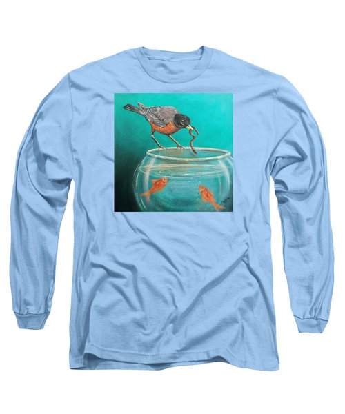 Long Sleeve T-Shirt featuring the painting Sharing by Susan DeLain