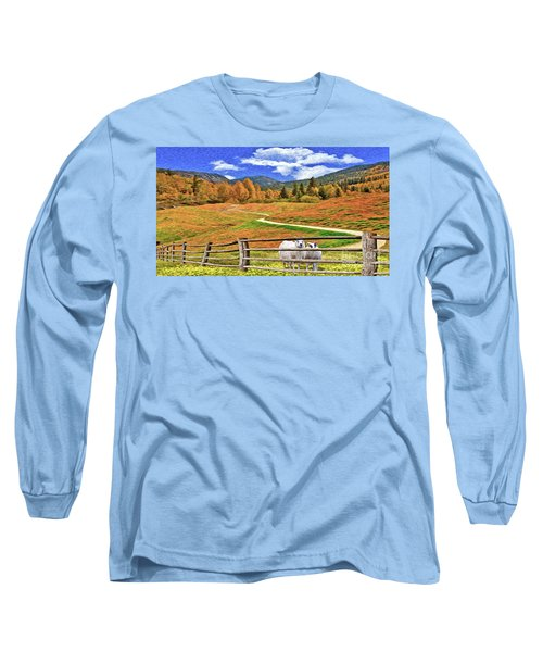 Sheep And Road Ver 1 Long Sleeve T-Shirt