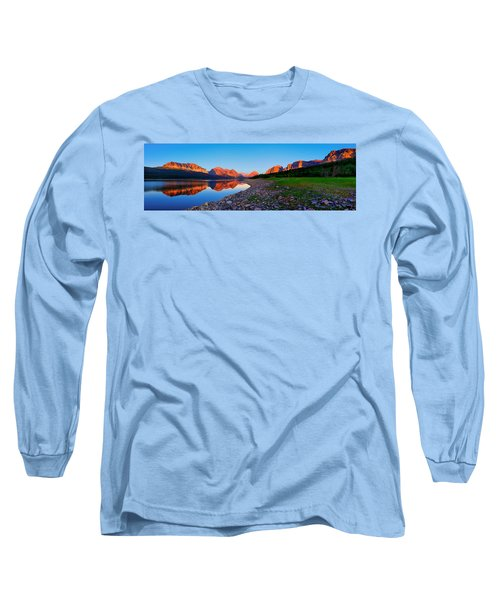 Long Sleeve T-Shirt featuring the photograph Sherburne Shore Sunrise Panorama by Greg Norrell