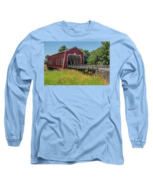Shimanek Covered Bridge No. 2 Long Sleeve T-Shirt