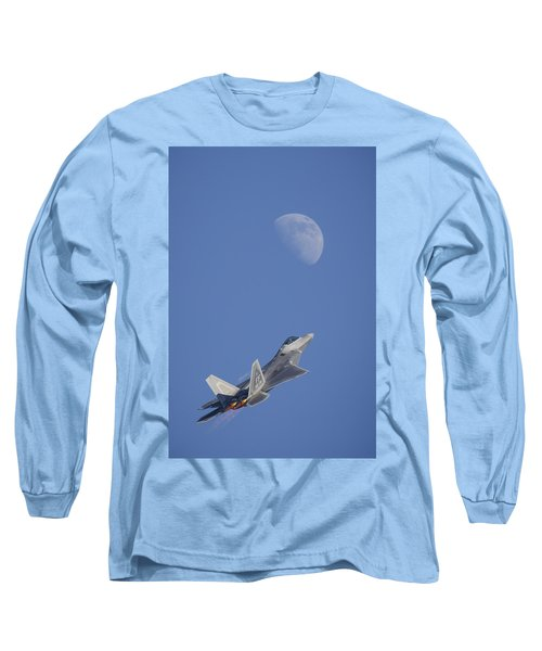 Long Sleeve T-Shirt featuring the photograph Shoot The Moon by Adam Romanowicz