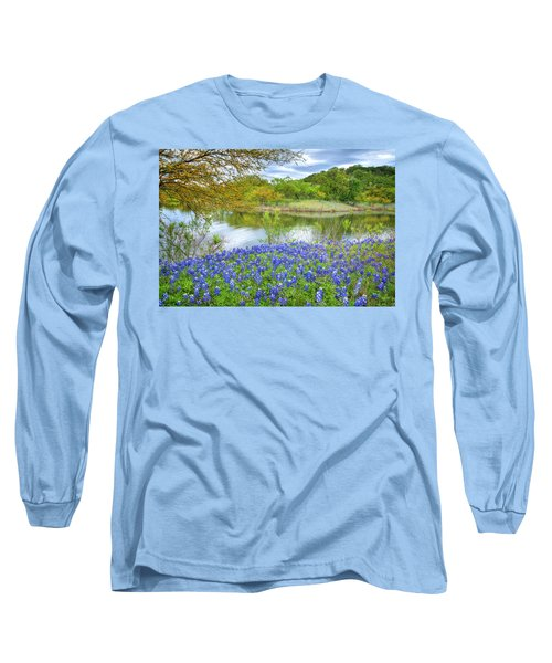 Shoreline Bluebonnets At Lake Travis Long Sleeve T-Shirt