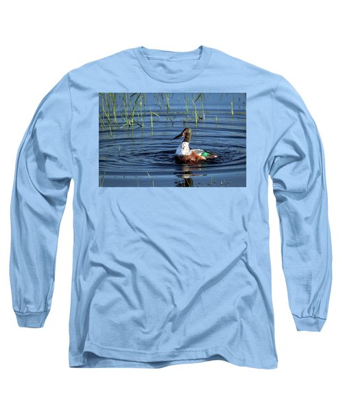 Long Sleeve T-Shirt featuring the photograph Shoveler by Jean Noren