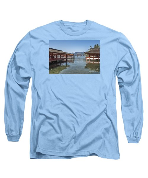 Long Sleeve T-Shirt featuring the photograph Shrine Over Water by Pravine Chester