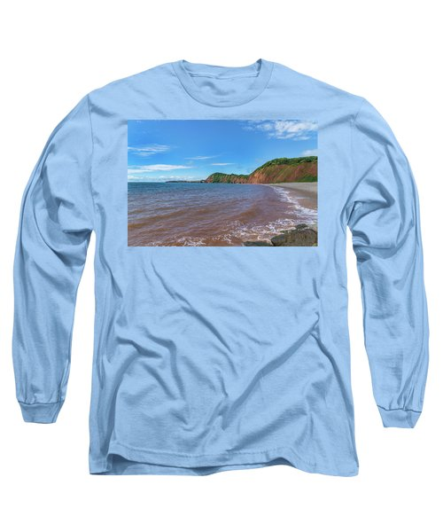 Long Sleeve T-Shirt featuring the photograph Sidmouth Jurassic Coast by Scott Carruthers