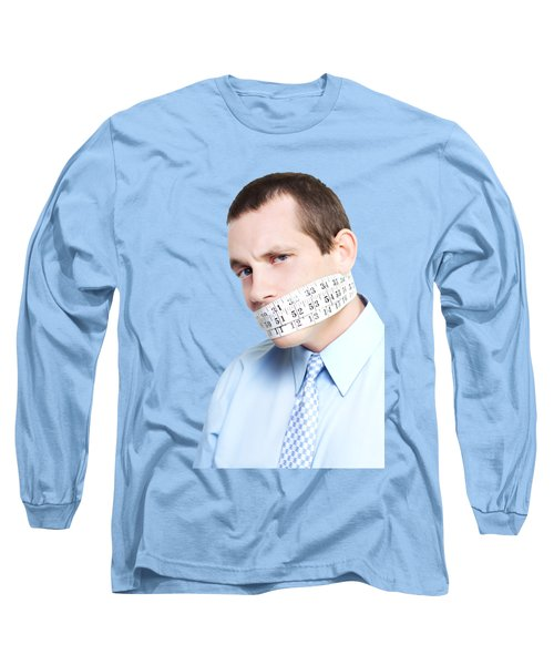 Long Sleeve T-Shirt featuring the photograph Silent Businessman Showing Measured Restraint by Jorgo Photography - Wall Art Gallery