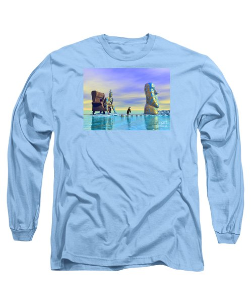 Silent Mind - Surrealism Long Sleeve T-Shirt by Sipo Liimatainen